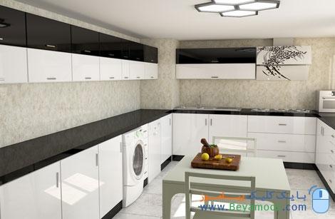 نورپردازی و ساخت متریال یک آشپزخانه در مکس با ویری
