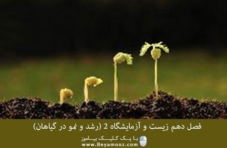 فصل دهم زیست و آزمایشگاه 2 (رشد و نمو در گیاهان)