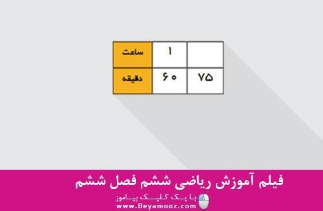 آموزش ریاضی ششم فصل ششم