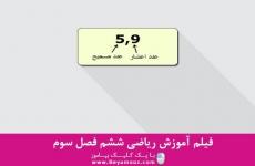 آموزش ریاضی ششم فصل سوم