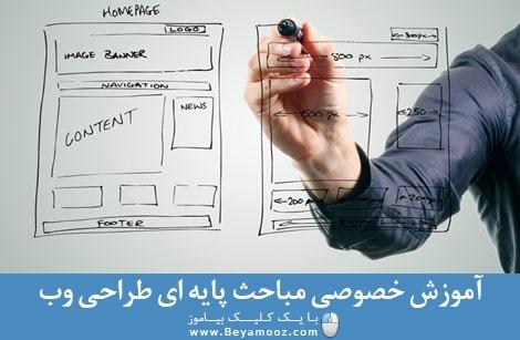 آموزش خصوصی مباحث پایه ای طراحی وب سایت