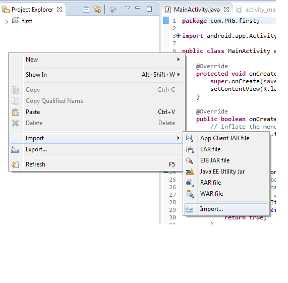 آشنایی با محیط Eclipseدر قسمت select root directory مسیری که پروژه ی مورد نظر در آن قرار دارد را  وارد کنید و بعد پروژه هایی را که مایل هستید وارد محیط کنونی شوند را تیک ...