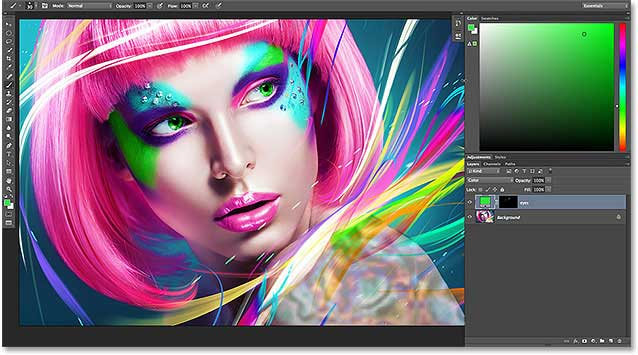 The improved and enhanced Color panel in Photoshop CC 2014.