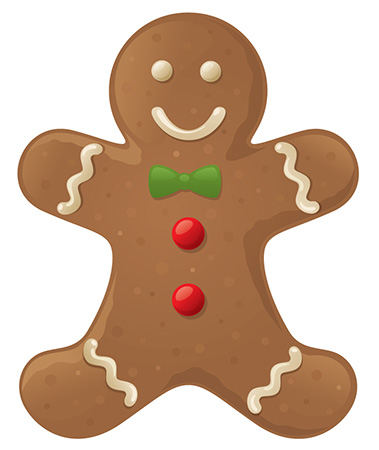 A photo of a gingerbread man.
