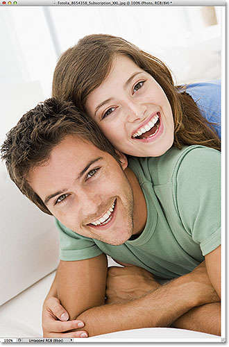 A photo of a young couple. Image licensed from Fotolia by Photoshop Essentials.com