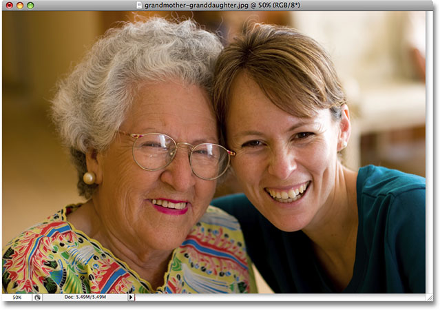 A photo of a grandmother and granddaughter. Image used by permission from iStockphoto.com