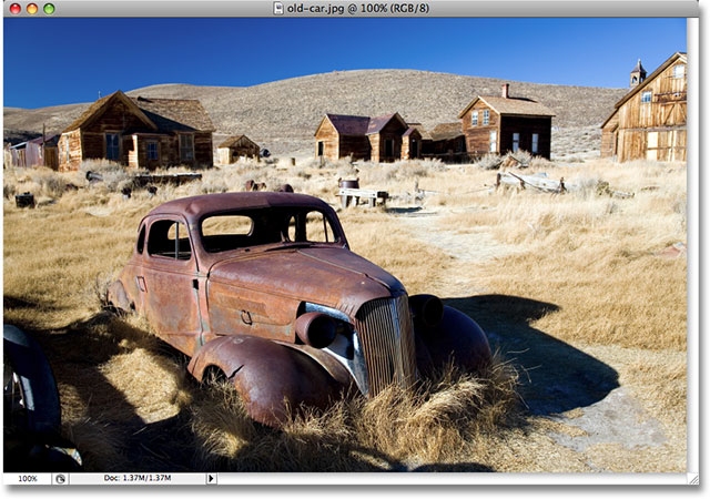 A photo of an old car. Image copyright © 2008 Photoshop Essentials.com
