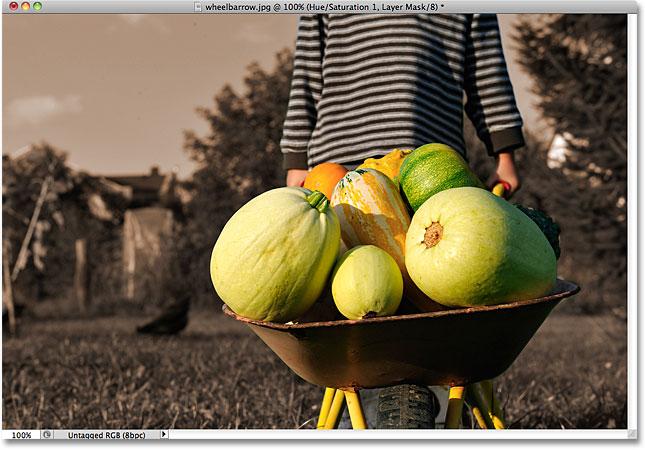Photoshop colorizing background effect. Image © 2010 Photoshop Essentials.com