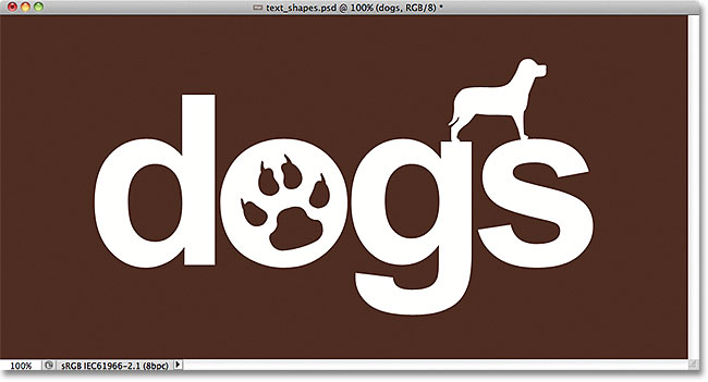 A simple logo created by combining text with shapes in Photoshop. Image © 2011 Photoshop Essentials.com