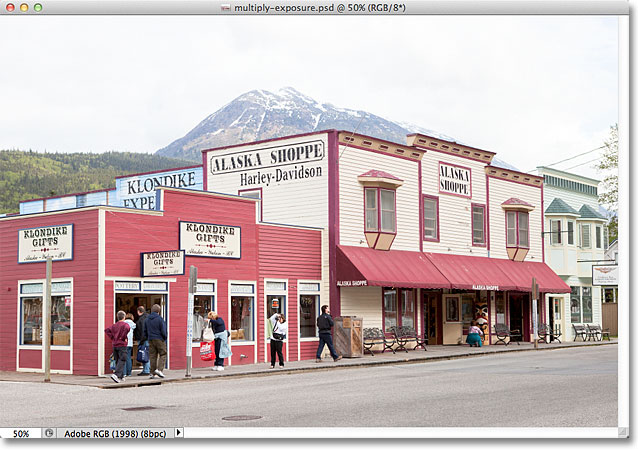 A photo of a tourist section in Alaska. Image © 2011 Photoshop Essentials.com