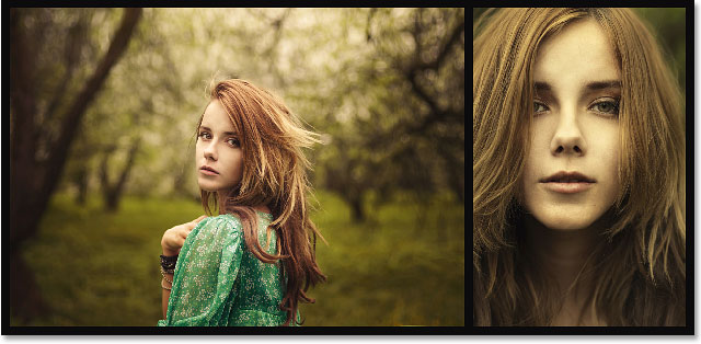 A two-image diptych created in Photoshop CS6. Image © 2013 Photoshop Essentials.com