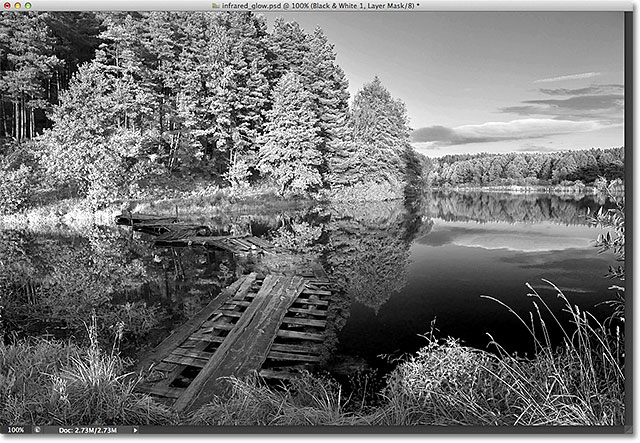 The infrared image. Image © 2012 Photoshop Essentials.com.