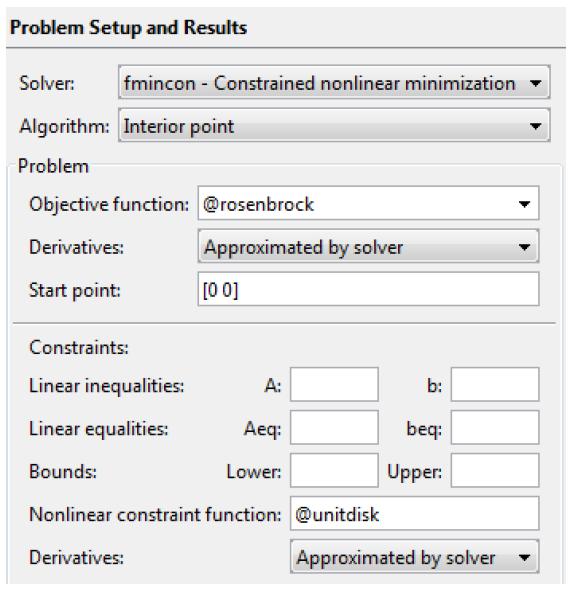 حل یک مسئله ی غیرخطی محدود در متلب