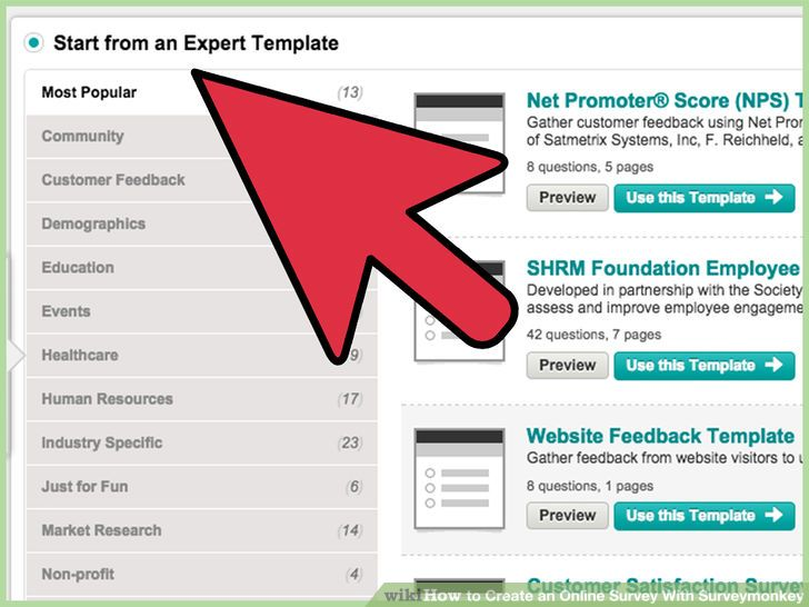 Image titled Create an Online Survey With Surveymonkey Step 6